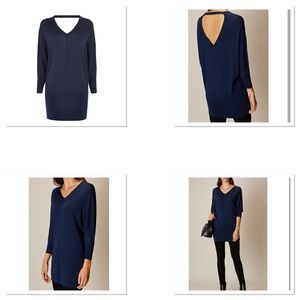 Karen Millen v-neck tunic knit top